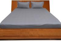 Misr Cotton Plain Single Bedsheet(1 Bed Sheet, 2 Pillow Covers, Silver Grey)