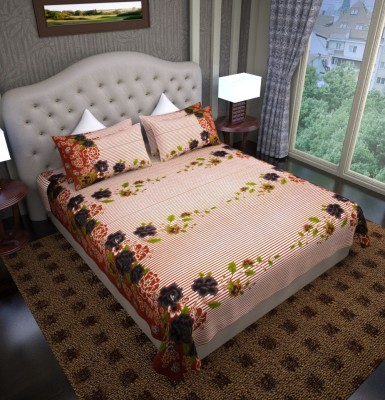 Graffiti Home Cotton Striped Double Bedsheet