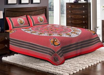 Jaipuri Haat Cotton Floral Double Bedsheet