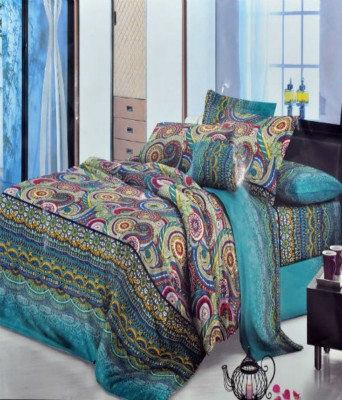countingbeds Polycotton Geometric Double Bedsheet