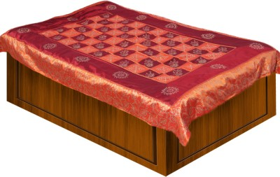 Soundarya Polyester Silk Blend Abstract Single Bedsheet
