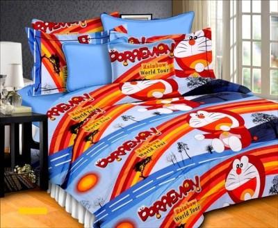 Aalidhra Techtex Cotton Abstract Queen sized Double Bedsheet