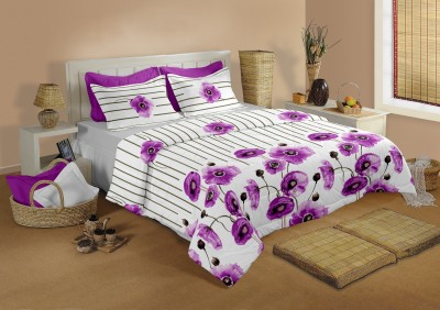 Raymond Home Cotton Striped Double Bedsheet