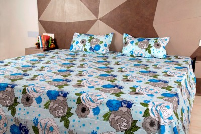 Siyas Collection Polycotton Floral King sized Double Bedsheet