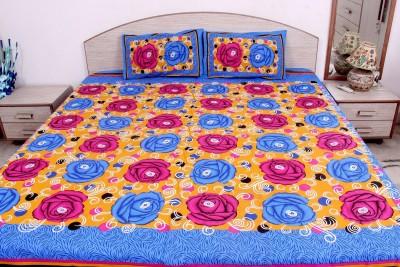 Pms Fashions Cotton Floral Double Bedsheet