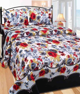 Home Deco Vatika Polyester 3D Printed Single Bedsheet