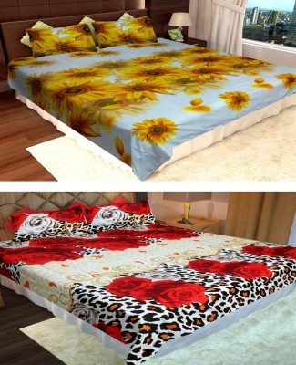Homefab India Polycotton Printed Double Bedsheet