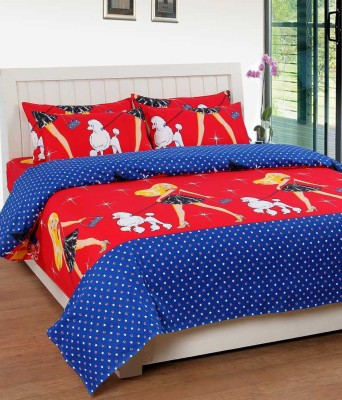 RK Cotton Cartoon Double Bedsheet