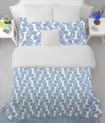 Welhome by Welspun Cotton Printed King sized Double Bedsheet