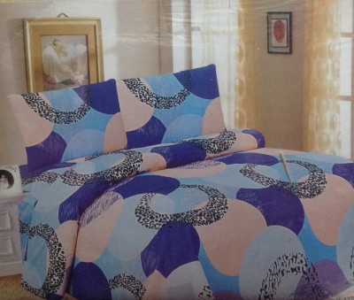 Prakki Cotton Geometric Double Bedsheet