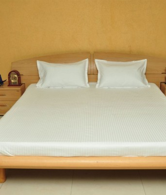 Narendra Cotton Striped Double Bedsheet