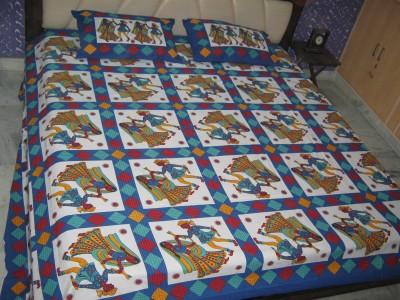 Kandkdecor Cotton Text Print Double Bedsheet