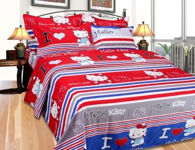SKYTEX Cotton Cartoon Single Bedsheet