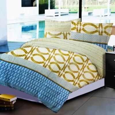 Dreaming Cotton Polycotton Geometric Double Bedsheet