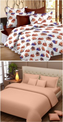 Happy Life Cotton Abstract Double Bedsheet