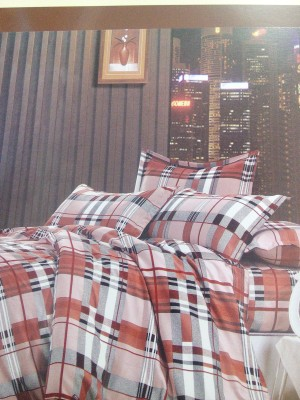 A R @ Home Cotton Geometric Double Bedsheet