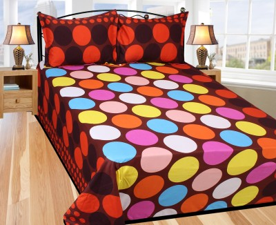 Azaani Polycotton Abstract King sized Double Bedsheet