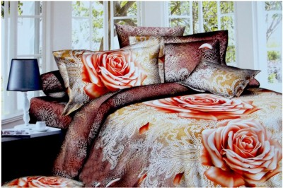 SRP Polycotton Floral King sized Double Bedsheet