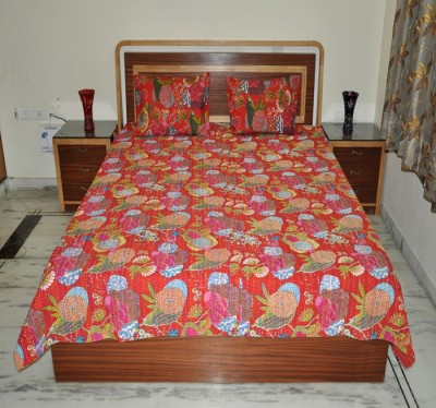 Lal Haveli Cotton Abstract Double Bedsheet