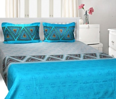 Trident Cotton Floral King sized Double Bedsheet