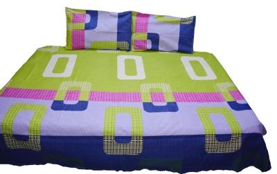 NIVRATI Polyester Geometric Double Bedsheet