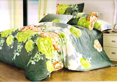 Ruhi Home Furnishing Polyester Floral Double Bedsheet