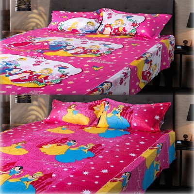 eCraftIndia Cotton, Satin Abstract Queen sized Double Bedsheet