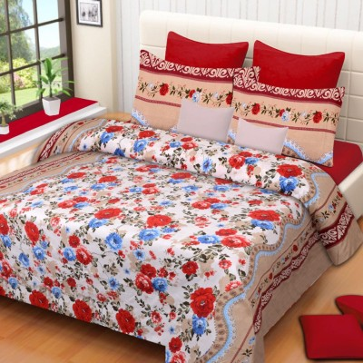 HOME ELITE Polycotton Floral Double Bedsheet