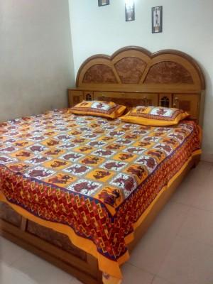 Jaipur Print Market Cotton Printed Queen sized Double Bedsheet
