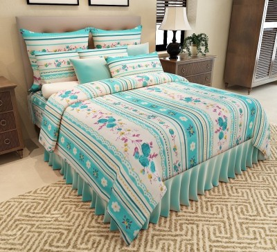 HOMEDESIGNS Cotton Floral Double Bedsheet