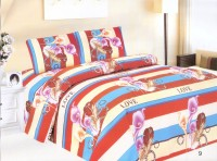 Leocapult Polyester Floral Double Bedsheet(Double Bedsheet with 2 Pillow Covers, Multicolor)