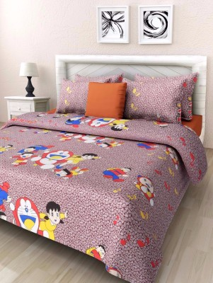 madhav blankets Cotton Printed Double Bedsheet