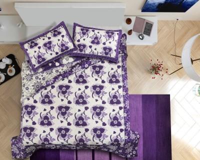 GARIMA 3 STAR Chennile Abstract Double Bedsheet