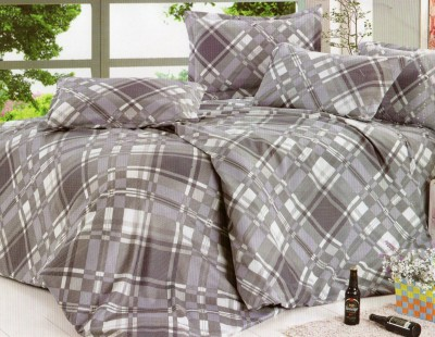 CICI Polycotton Checkered Queen sized Double Bedsheet