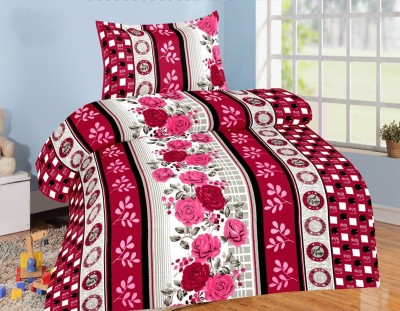Jiya Decor Cotton Floral Single Bedsheet