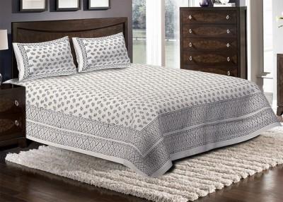 Jaipuri Haat Cotton Paisley King sized Double Bedsheet