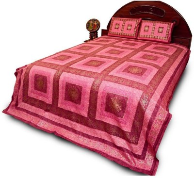 Cat Eye Export Cotton Checkered Queen sized Double Bedsheet
