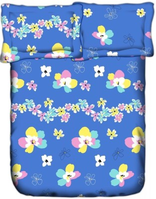 Weaves Cotton Floral Double Bedsheet