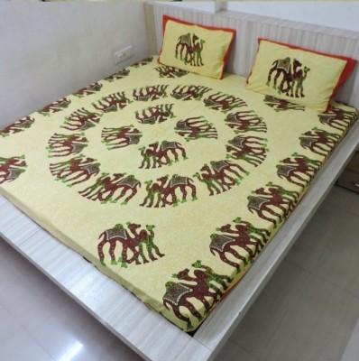 Bigshoponline Cotton Animal Double Bedsheet