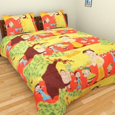 AXCELLENCE Polycotton Cartoon King sized Double Bedsheet