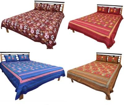 El Sandalo Cotton Printed Single Bedsheet