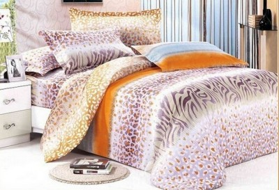 Silver Thread Polycotton Striped Double Bedsheet
