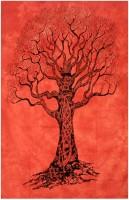 Linzina Fashions Cotton Printed Single Bedsheet(1 Bedsheet, Red)