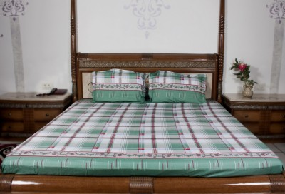 Sassoon Orro Polyester Checkered Double Bedsheet