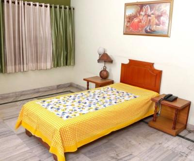 jaipuri sanganeri Cotton Printed Single Bedsheet