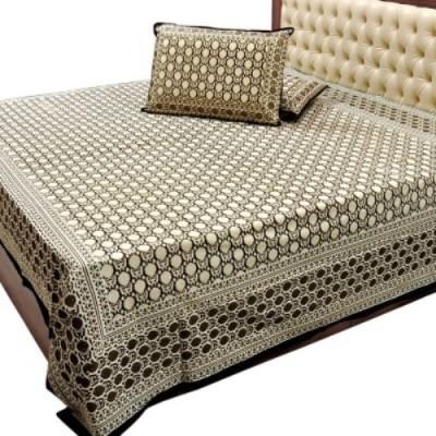 Big Onlineshop Cotton Striped Double Bedsheet