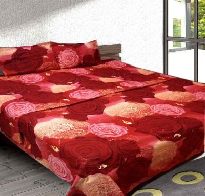 Urban Arts Polycotton Floral Double Bedsheet