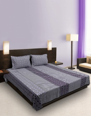 Home Stylerz Cotton Polka Double Bedsheet