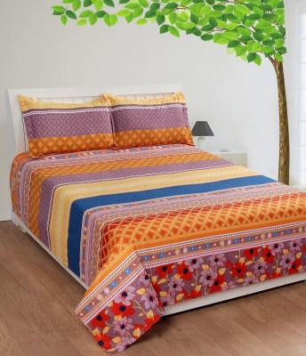 Shivalik Polycotton Geometric King sized Double Bedsheet