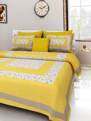 Jaipur Fab Cotton Paisley Double Bedsheet